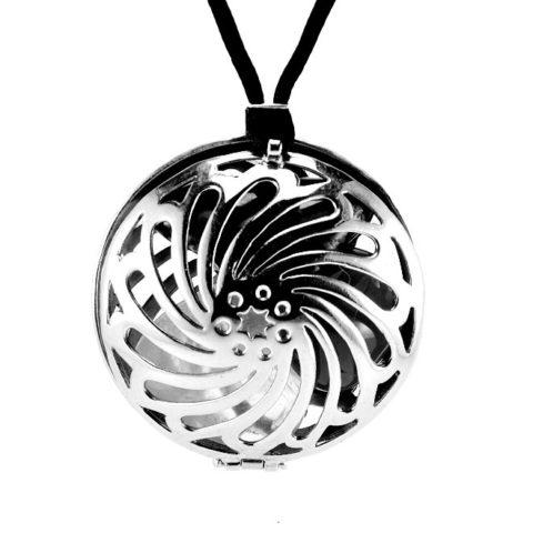 Argentina ciondolo per cristalloterapia in argento con pietre