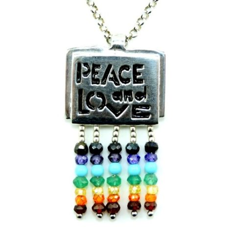Ciondolo Peace and Love in argento