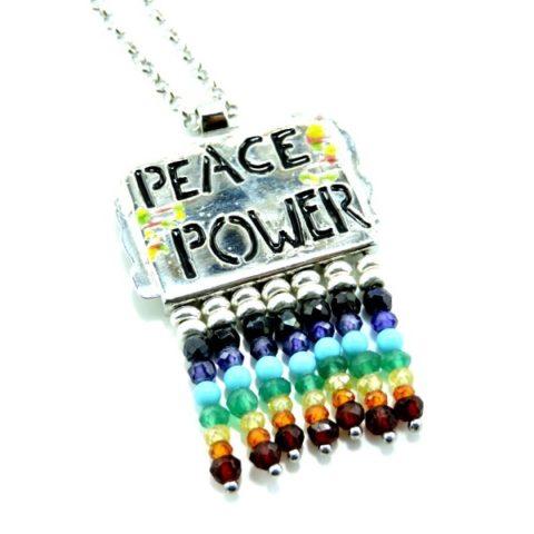 Ciondoli in argento con simbolo della pace