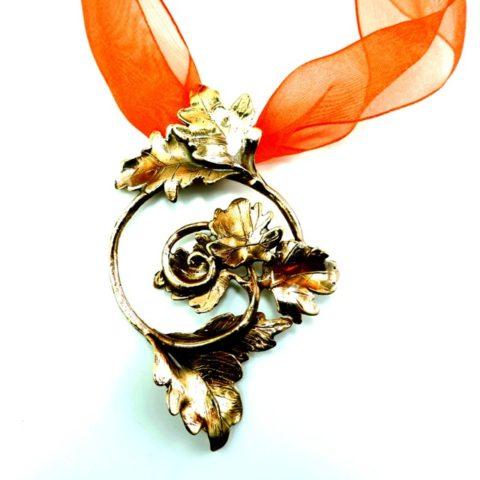 Fantasie ciondolo artigianale in bronzo e argento
