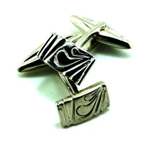 Gemelli in argento rodiato 925
