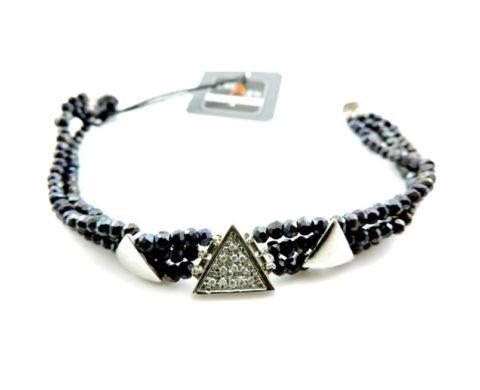 Bracciale in argento con zirconi bianchi e zaffiro
