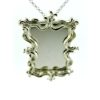 Collana con ciondolo a forma di specchio quadrato Argento