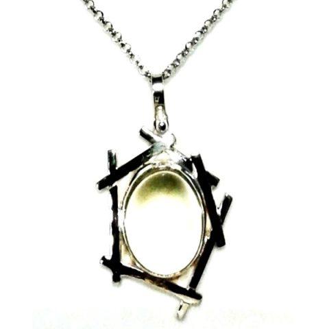 Collana pietra di luna e argento