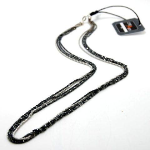 Girocollo con catenina, capicorda e chiusura in argento