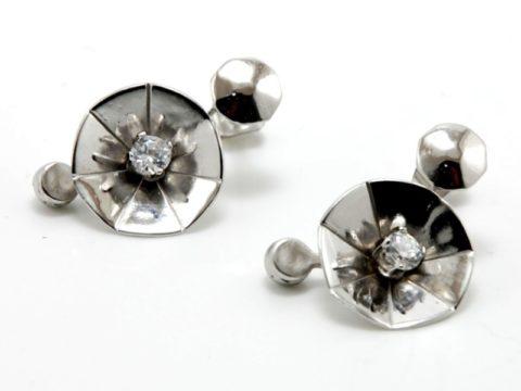 Orecchini argento 925 con zirconi bianchi